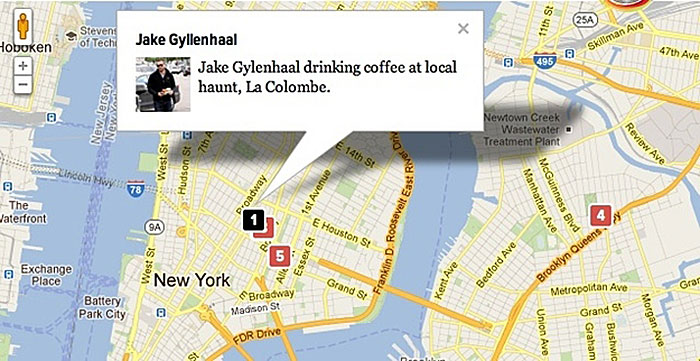 Gawker Stalker-Karte