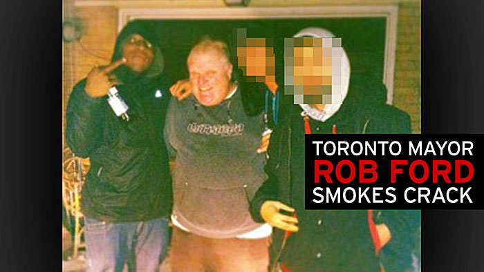 Rob Ford smoking Crack