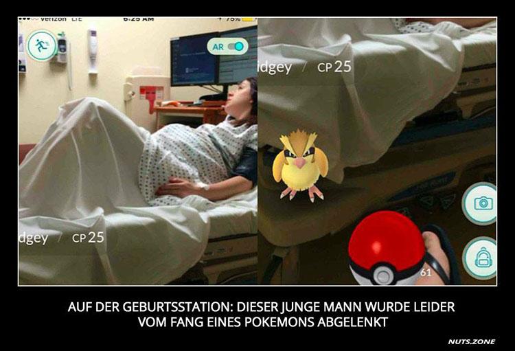 Pokemon auf der Geburtsstation