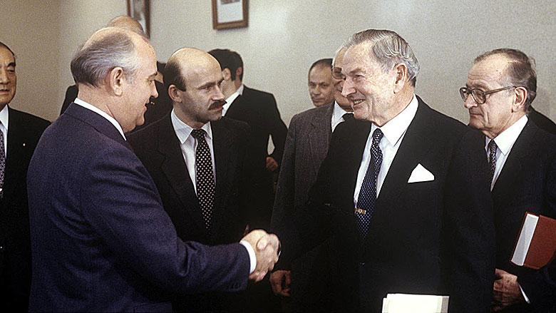 Rockefeller und Gorbatschow